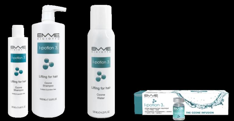 Trattamento all'ozono rigenerante per tutti i tipi di capelli.